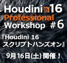 Houdini 16 Professional Workshop #6 『 Houdini16 スクリプト ハンズオン 』